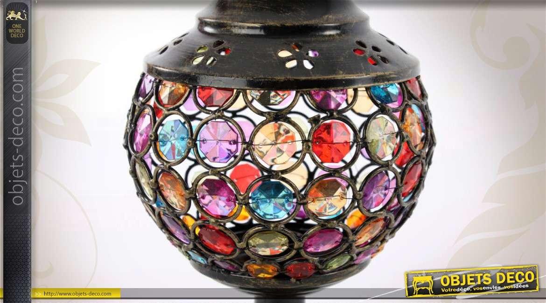 Table Lampe Métal En Et Colorés De Strass WH9ED2I