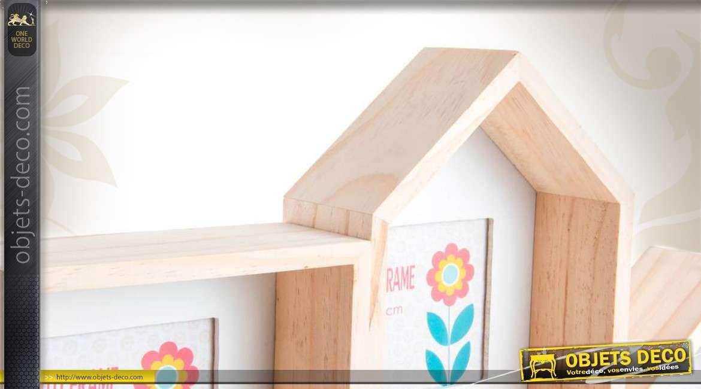 ensemble de cadres pour photos en bois. Black Bedroom Furniture Sets. Home Design Ideas