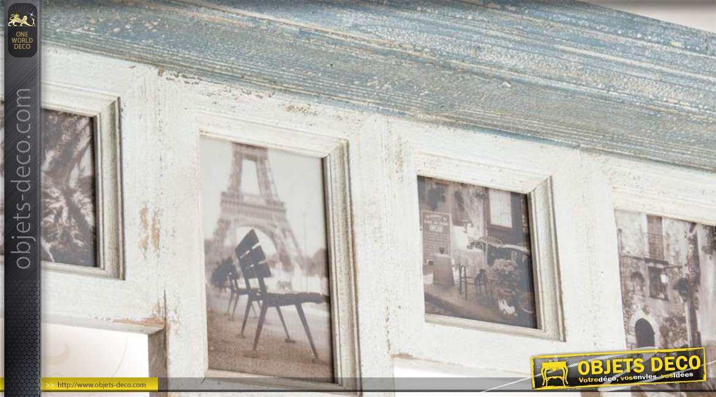 cadres photos en bois avec tag re. Black Bedroom Furniture Sets. Home Design Ideas