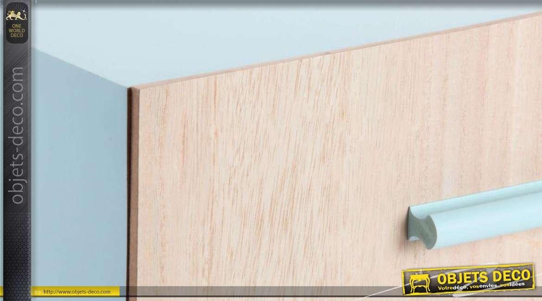Table de nuit en bois 2 couleurs contemporaine