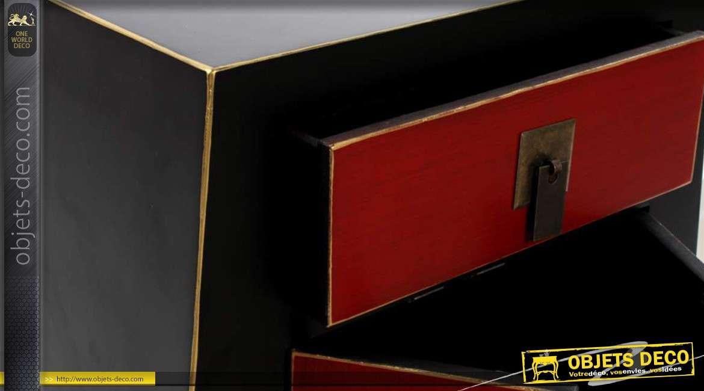 Buffet japonais en bois 2 portes for Console style japonais