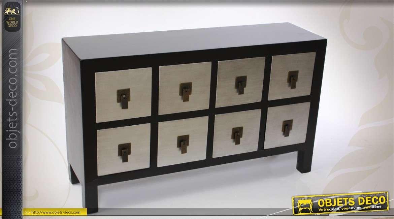 Petite commode de style japonais 8 tiroirs - Petite commode de rangement ...