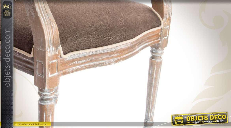 chaise m daillon bicolore en bois et tissu. Black Bedroom Furniture Sets. Home Design Ideas
