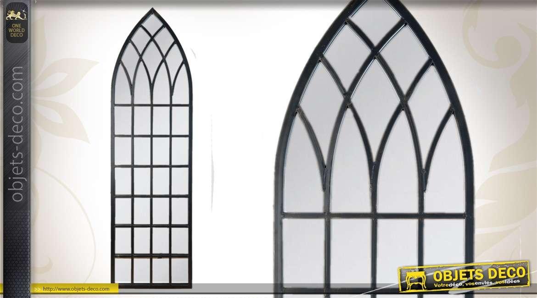 Miroir psych de style lounge encadrement capitonn noir mat for Miroir imitation fenetre