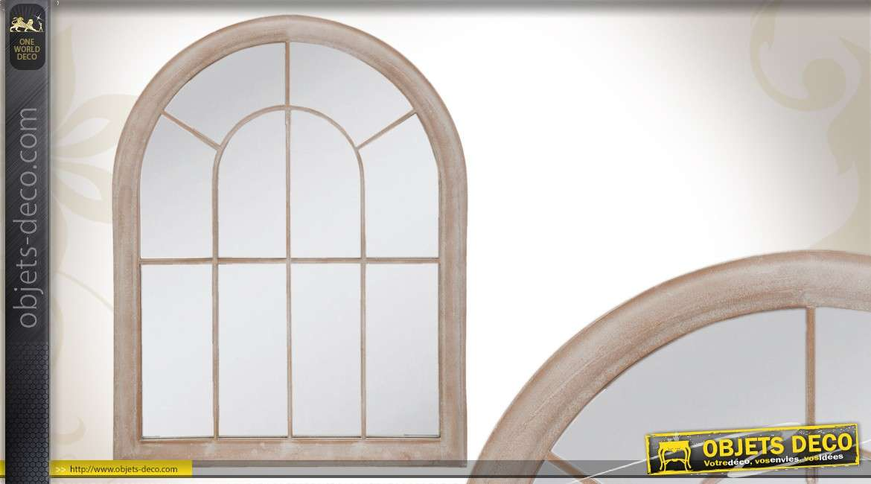 Miroir en fen tre coloris blanc for Miroir forme fenetre