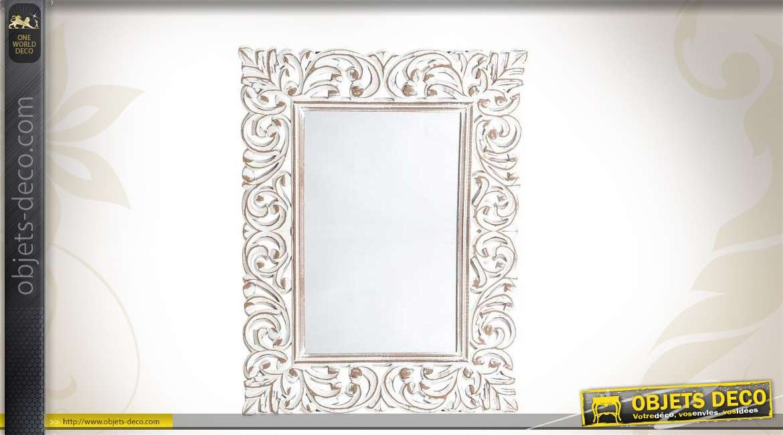 miroir baroque bois avec ornementation entrelac e. Black Bedroom Furniture Sets. Home Design Ideas