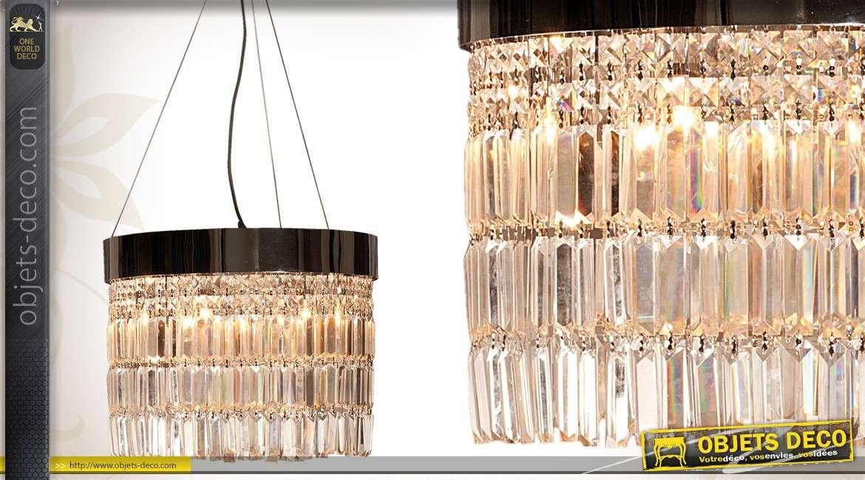 16045 lustre suspension suspension contemporaine en metal et prismes en verre 5 Incroyable Suspension Contemporaine Hzt6