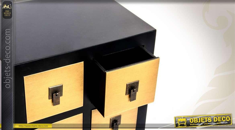 Chiffonnier de style japonais 8 tiroirs for Bureau style japonais