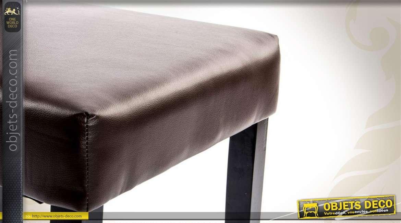 chaise de salle 224 manger en similicuir marron