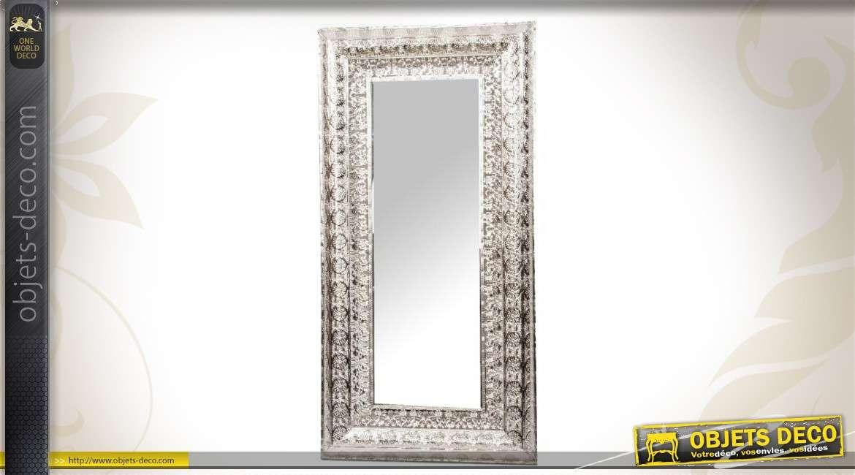 Miroir mural oriental en m tal ajour for Miroir oriental