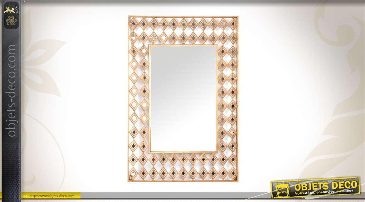 Miroir encadrement metal tikamoon eliot metal mirror for Miroir 50x50