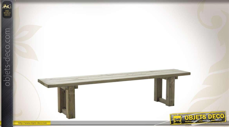 Long banc en épicéa massif 200 cm de style rustique