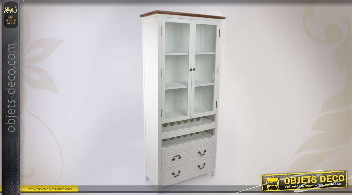 buffet de cuisine blanc en bois de style shabby. Black Bedroom Furniture Sets. Home Design Ideas