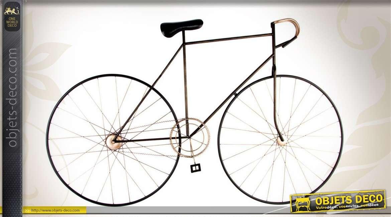 Déco murale en forme de vélo de course rétro