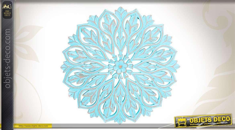 d coration murale en bois patin bleu. Black Bedroom Furniture Sets. Home Design Ideas