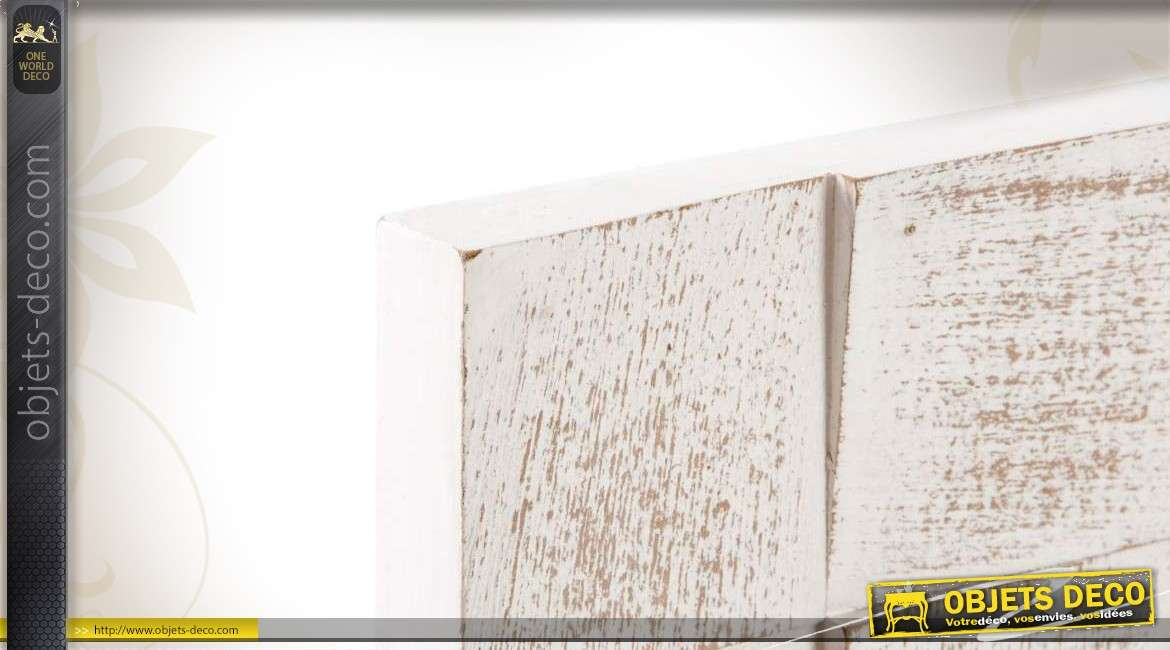 D coration murale blanche en bois design moderne for Decoration murale blanche