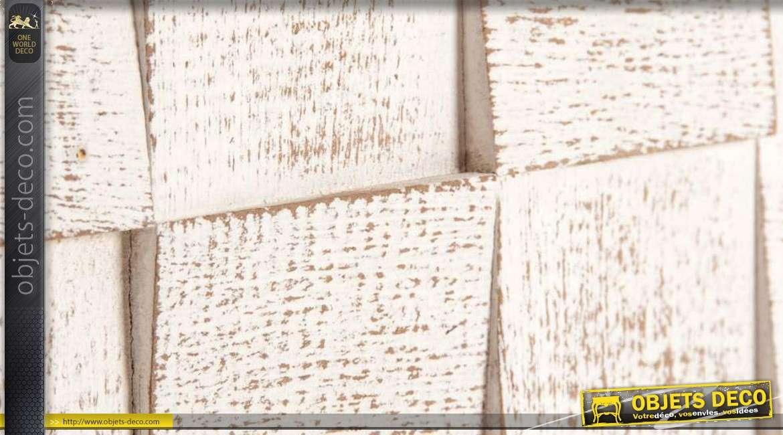 d coration murale blanche en bois design moderne. Black Bedroom Furniture Sets. Home Design Ideas