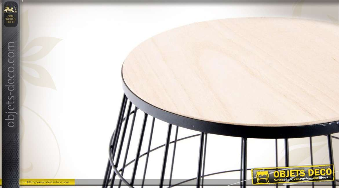 table basse contemporaine en bois et en m tal. Black Bedroom Furniture Sets. Home Design Ideas