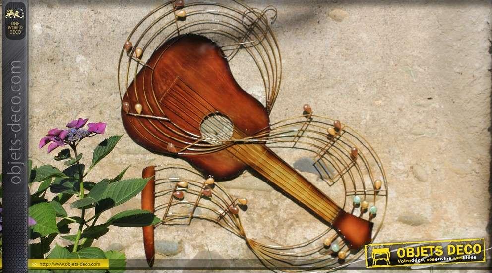 D coration murale guitare en fer forg - Deco murale fer forge ...