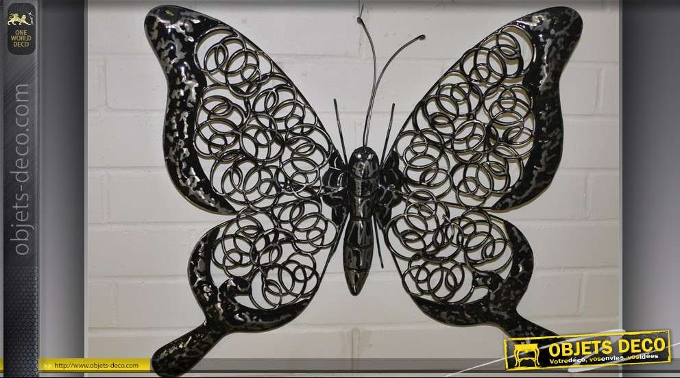 Papillon d coratif mural en m tal for Decor mural exterieur fer forge