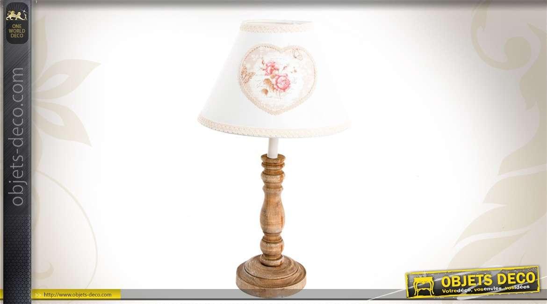 lampe de chevet romantique et fleurie. Black Bedroom Furniture Sets. Home Design Ideas