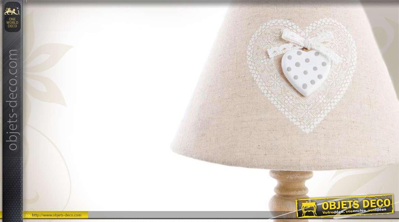 lampe de chevet romantique en bois. Black Bedroom Furniture Sets. Home Design Ideas