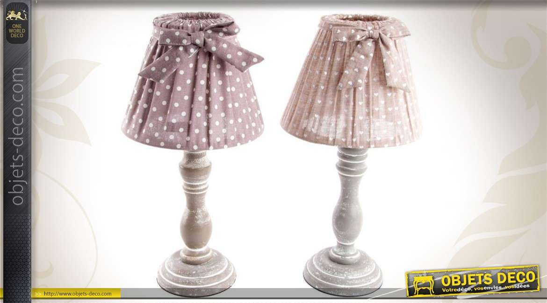 Tissu Chevet 2 Lampes Bois Abat De En Avec Jour Ensemble BoeCWrxd