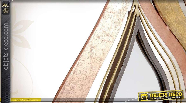 Miroir décoratif en métal bicolore