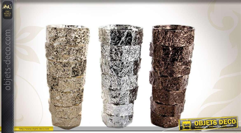 Trio de vases design et d co finition m tallis e - Objets design et deco tendanceidees decouvrir ...