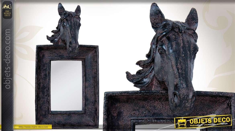 Miroir Mural Noir Oval Porte Bougies En Fer Forg