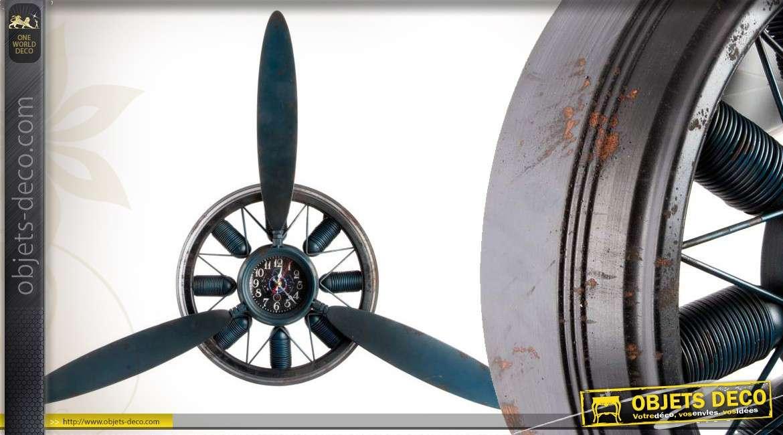 Horloge murale en forme d 39 h lice d 39 avion 95 cm for Pendules murales decoratives