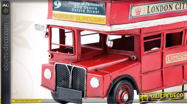miniature d corative ancien autobus imp riale anglais 32 cm. Black Bedroom Furniture Sets. Home Design Ideas