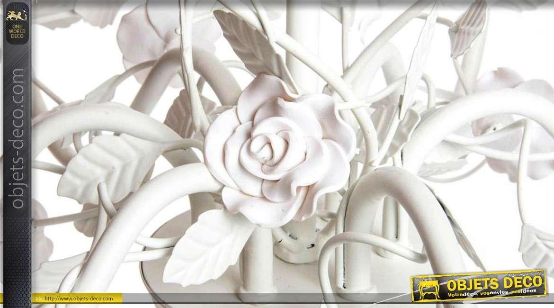 Lustre à 6 feux style romantique avec ornementations florales