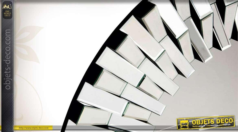 Miroir rond design miroir rond en bois flott river cm for Miroir graphique