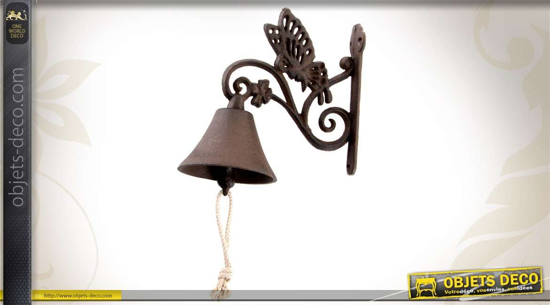 cloche de porte en fonte motif papillon. Black Bedroom Furniture Sets. Home Design Ideas