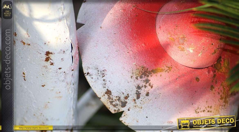 Grands champignons décoratifs d'extérieur en métal 90 cm
