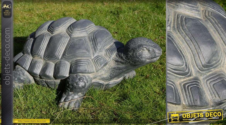 Grande statuette d corative de tortue pour jardin 70 cm for Objet en pierre pour jardin