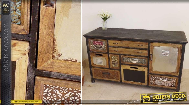 commode 9 tiroirs et une porte de style clectique. Black Bedroom Furniture Sets. Home Design Ideas