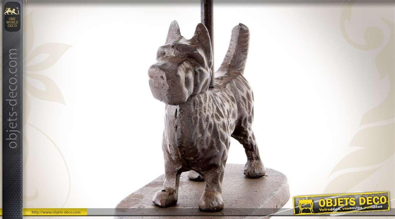 Bloque porte en fonte avec poign e design chien - Porte gamelle chien design ...