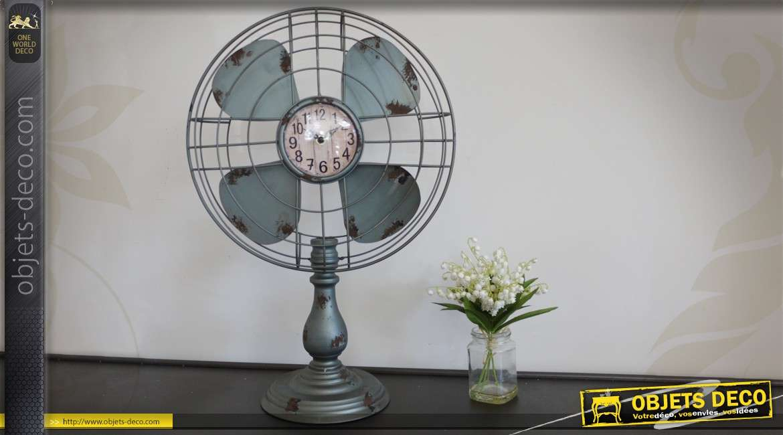 Horloge à poser en forme de ventilateur rétro 59 cm