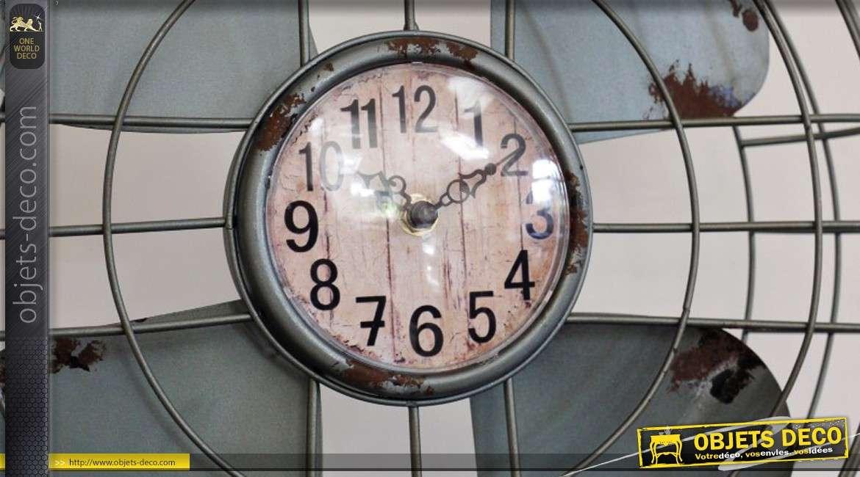 horloge poser en forme de ventilateur r tro 59 cm. Black Bedroom Furniture Sets. Home Design Ideas