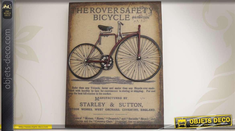 Plaque vintage m tal en relief bicyclette starley sutton - Deco murale en relief ...