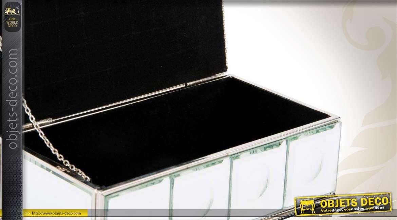 bo te bijoux effet miroir avec brillants. Black Bedroom Furniture Sets. Home Design Ideas