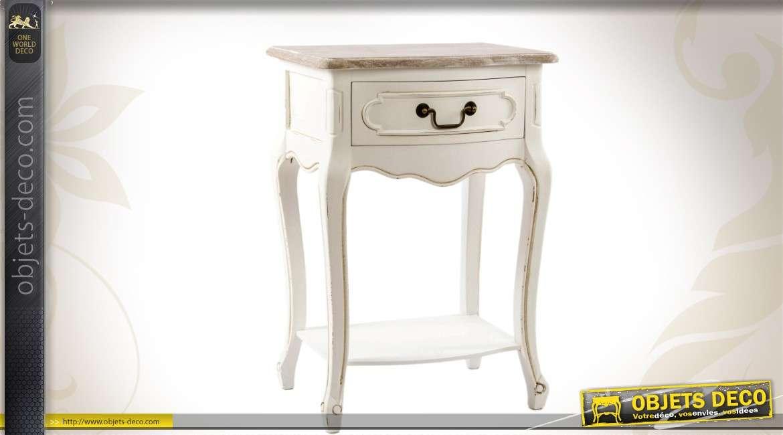 table de chevet bicolore inspiration style louis xv. Black Bedroom Furniture Sets. Home Design Ideas