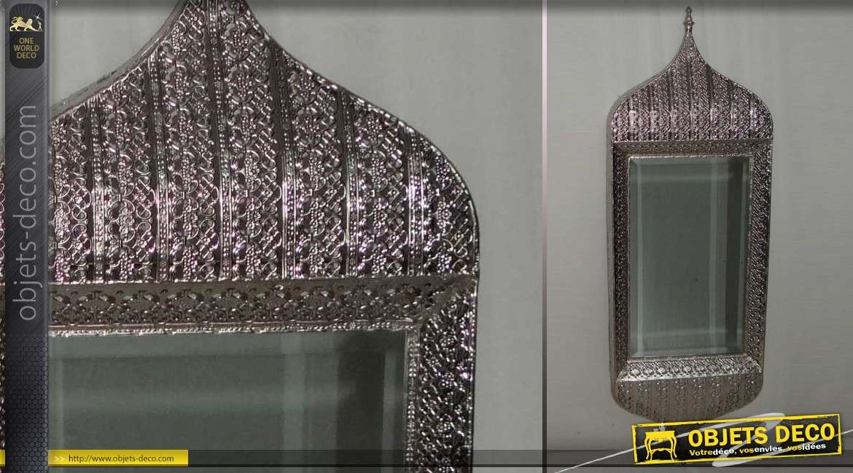 Miroir mural en m tal style oriental en m tal ouvrag et for Miroir mural metal