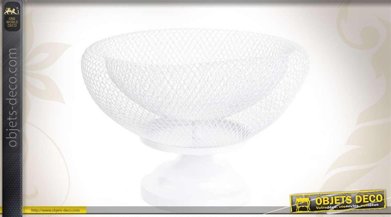 coupe fruits design blanche en m tal. Black Bedroom Furniture Sets. Home Design Ideas