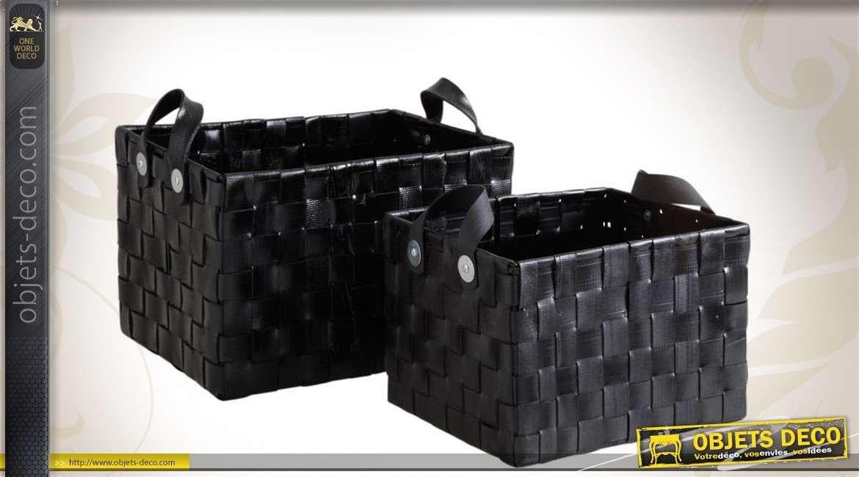 Duo de corbeilles de rangement en pneu recyclé
