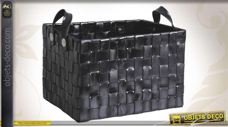 duo de corbeilles de rangement en pneu recycl. Black Bedroom Furniture Sets. Home Design Ideas