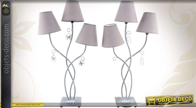 Cm Branches Jour De Trois Abat Avec Duo 75 Lampes À Poser Nvmn80w