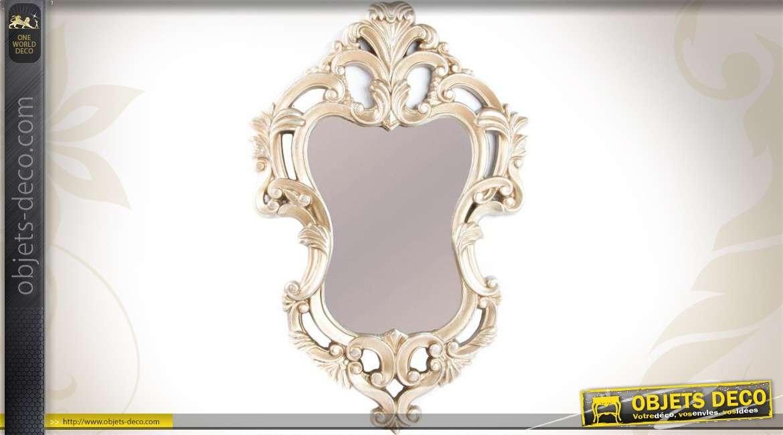 Miroir ovale baroque gris argent motifs v g taux ajour s for Miroir gris argent